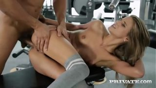 Tight Teen Gets Creampied in the GYM…